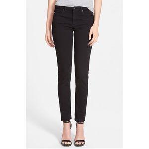 AG Jeans The Prima Mid Rise Cigarette Skinny Black